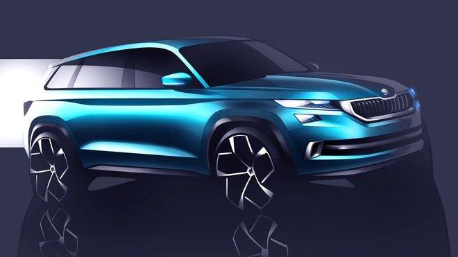 Škoda VisionS se odhaluje na prvních snímcích.