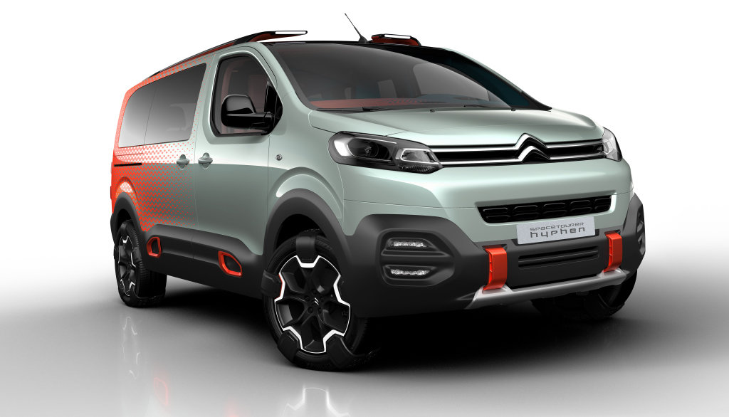 Citroën zkřížil MPV a SUV, vznikl z toho SpaceTourer s psychadelickou kabinou - anotační foto