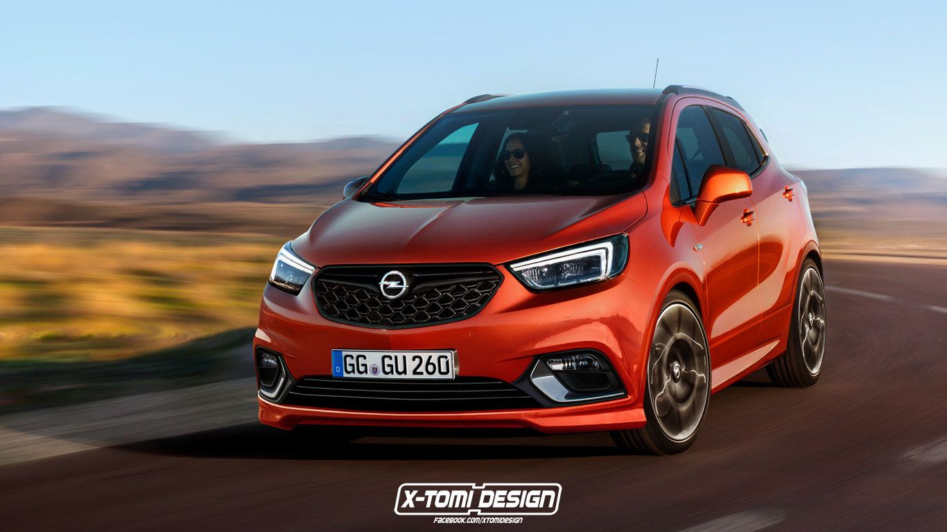 Opel Mokka X OPC - Bláznivý Němec v oranžovém kabátě - anotační foto