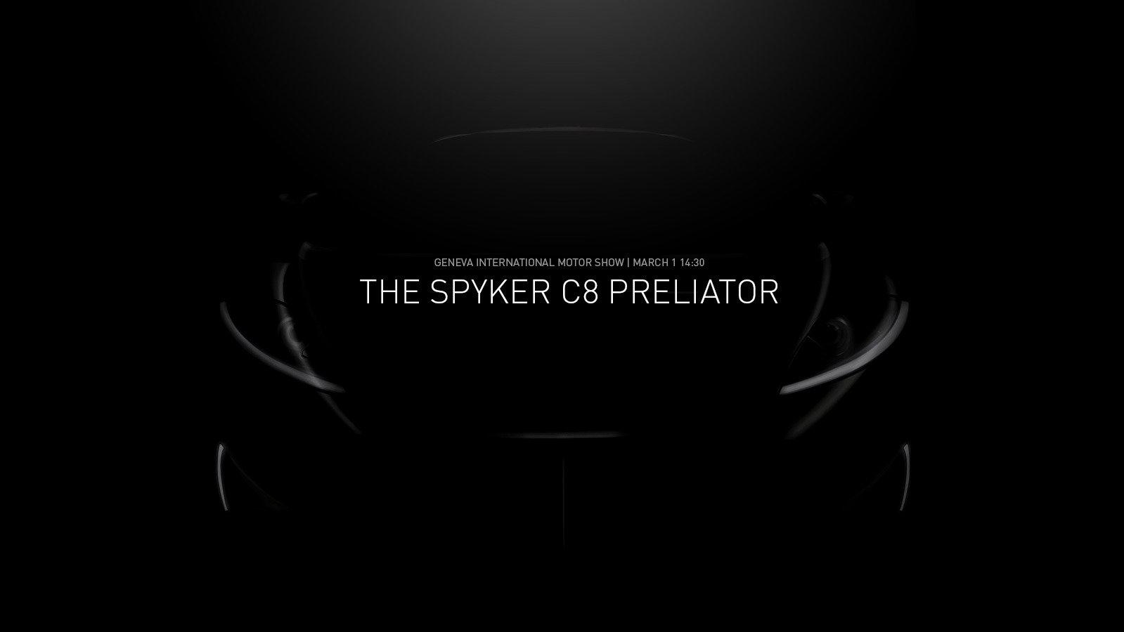Spyker poodhaluje novinku, kterou chystá do Ženevy - anotační foto
