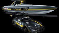 Člun s cejchem Mercedes-AMG? Proč ne! A ke všemu inspirovaný nekompromisní AMG GT3! - anotační foto