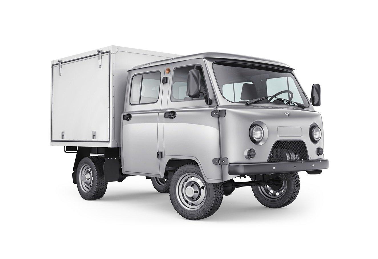 UAZ Classic jako podvozek s nástavbou.