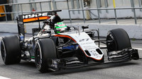 Nico Hülkenberg s vozem Force India VJM09 - Mercedes, třetí den testů v Barceloně