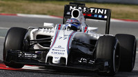 Valtteri Bottas s novým vozem Williams FW38 - Mercedes