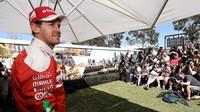 Focení pilotů týmu Ferrari, Sebastian Vettel v Melbourne