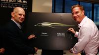 Adrian Newey u zahájení spolupráce Red Bull a Aston Martin v Melbourne