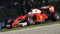 Sebastian Vettel při závodě v Melbourne