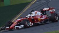 Sebastain Vettel při závodě v Melbourne