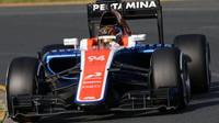 Pascal Wehrlein při závodě v Melbourne