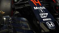 Přední křídlo vozu McLaren MP4-31 Honda v Melbourne