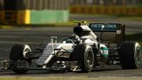 Nico Rosberg při závodě v Melbourne