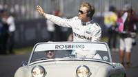 Nico Rosberg při předstartovní prezentaci v Melbourne