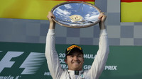 Nico Rosberg se raduje z prvního místa v Melbourne