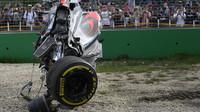McLaren Fernanda Alonsa po ošklivé havárii