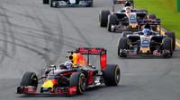 Daniel Ricciardo při závodě v Melbourne