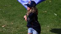 Dětská fanynka v Melbourne