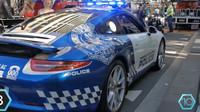 Policejní Porsche 911 známe především z Německa. Patří ale i do výbavy australské police, kterou přišlo na 110 000$ (cca. 2 640 000 Kč).