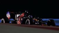 Max Verstappen v závodě v Bahrajnu