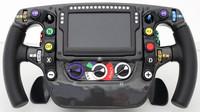 Foto a popis volantu McLarenu MP4-31 - anotační foto
