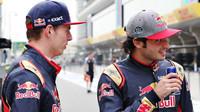 Max Verstappen a Carlos Sainz před závodním víkendem v Číně