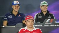 Marcus Ericsson, Nico a Kimi při tiskovce v Číně