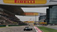 Nico Rosberg při pátečním tréninku v Číně