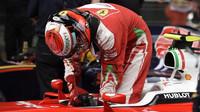 Kimi Räikkönen po kvalifikaci v Číně
