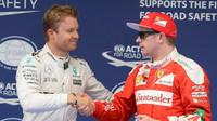 Nico Rosberg a Kimi po kvalifikaci v Číně