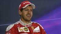 Sebastian Vettel při tiskovce po závodě v Číně