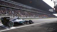 Nico Rosberg v cíli v Číně