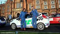 Dominik Brož s Petrem Těšínským míří na Ypres rally - anotační foto