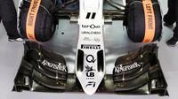 Přední křídlo vozu Force India VJM09 - Mercedes v Soči