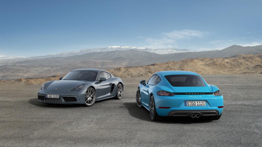 Čtyřválcovou kůrou prošlo i Porsche Cayman, od Boxsteru se liší jen střechou - anotační foto