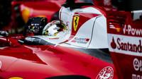 Sebastian Vettel po kvalifikaci v Soči