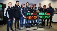 Sergio Pérez a Nico Hülkenberg slaví 100 GP se svými kamarády v Soči