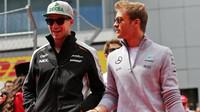 Nico Hülkenberg a Nico Rosberg v Soči