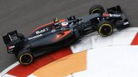 Jenson Button při kvalifikaci v Soči