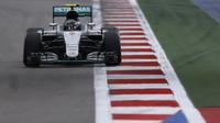 Nico Rosberg při kvalifikaci v Soči