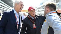 Marco Tronchetti Provera, Niki Lauda a Paul Hembery v Soči