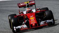 Kimi Räikkönen při tréninku v Barceloně