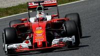 Sebastian Vettel při tréninku v Barceloně