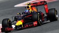 Max Verstappen při tréninku v Barceloně