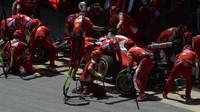 Kimi při kvalifikaci v Barceloně