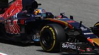 Carlos Sainz při kvalifikaci v Barceloně
