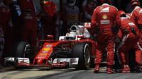 Sebastian Vettel během závodu v Barceloně