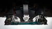 Nový nos a přední křídlo Mercedesu ve Španělsku