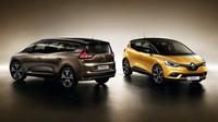 Renault Scénic a Grand Scénic na společné fotografii, do prodeje zamíří před koncem roku.