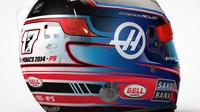 Přilba Romaina Grosjeana pro Monako, vzpomíná na Julese Bianchiho