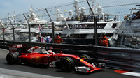 Kimi Räikkönen při tréninku v Monaku