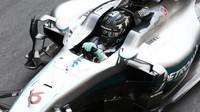 Nico Rosberg při tréninku v Monaku